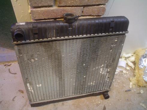 Lekke radiator repareren